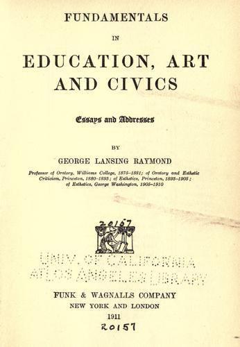 Fundamentals in education, art and civics