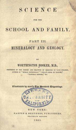 Science for the school and family.
