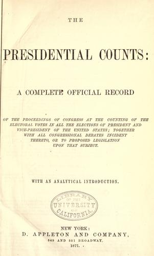 The presidential counts by