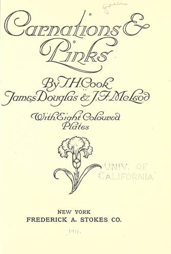 Carnations and pinks by T. H. Cook
