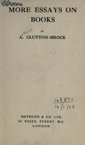 More essays on books by A. Clutton-Brock