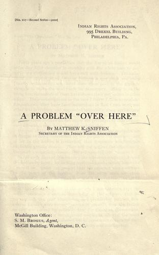 "A problem ""over here"" by"