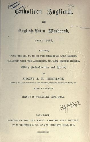 [Publications]. Original series by Early English Text Society