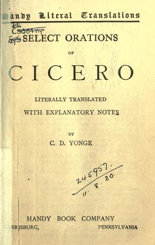 Select orations by Cicero