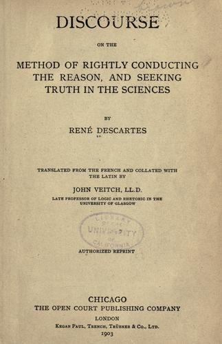 Discours de la méthode ; Texte et commentaire par L. Meynard