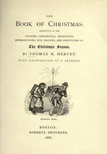 The book of Christmas by Thomas Kibble Hervey