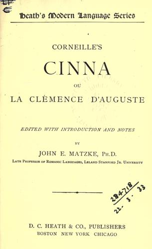 Cinna by Pierre Corneille