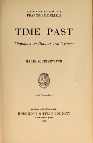Time past by Marie Scheikévitch