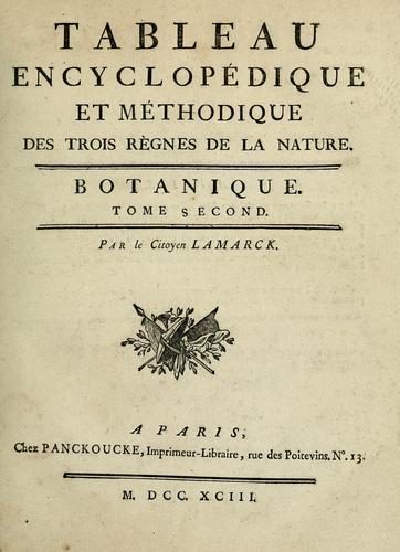 Tableau encyclopédique et méthodique des trois règnes de la nature