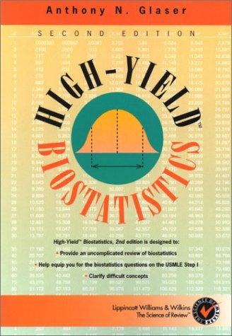 High-Yield Biostatistics (High-Yield Series) by Anthony N., M.D., Ph.D. Glaser