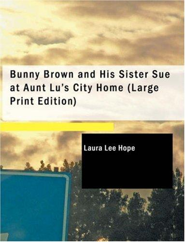 Bunny Brown and His Sister Sue at Aunt Lu's City Home (Large Print Edition)