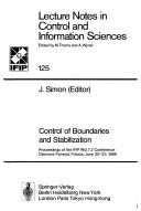 Control of boundaries and stabilization by IFIP WG 7.2 Conference (1988 Clermont-Ferrand, France)