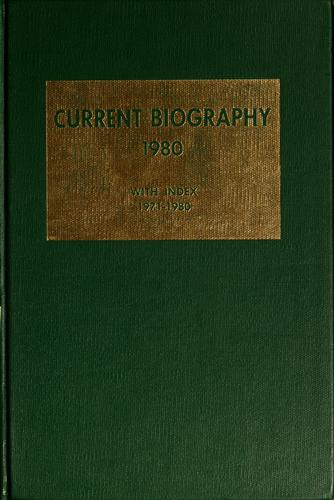 Current biography yearbook, 1980 by Charles Moritz