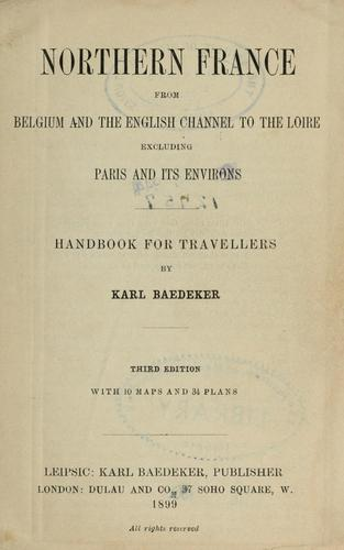 Northern France by Karl Baedeker (Firm)
