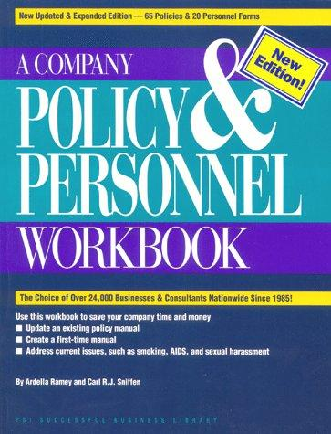 A company policy & personnel workbook by Ardella R. Ramey
