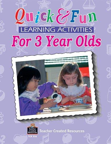 Quick and fun learning activities for three-year-olds by Grace Jasmine