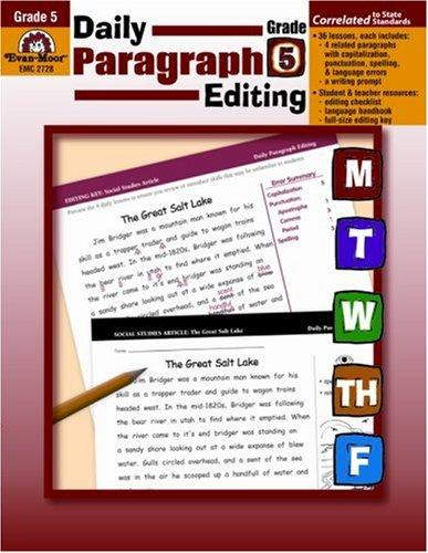 Daily Paragraph Editing, Grade 5 by Lisa V. Mathews
