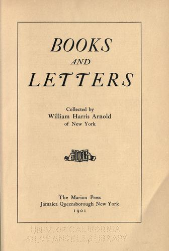 Books and letters