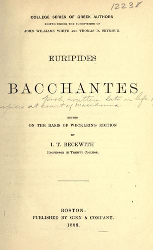 Bacchantes by Euripides