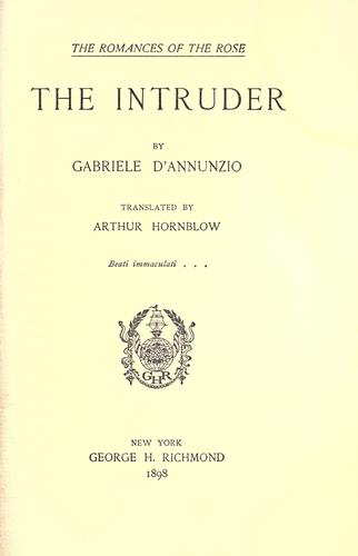 The intruder by Gabriele D'Annunzio