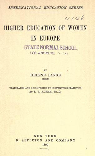 Higher education of women in Europe