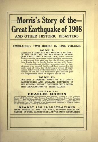 Morris's story of the great earthquake of 1908 by Morris, Charles