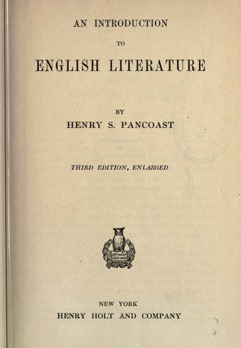 An introduction to English literature.