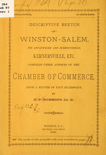 Descriptive sketch of Winston-Salem by D. P. Robbins