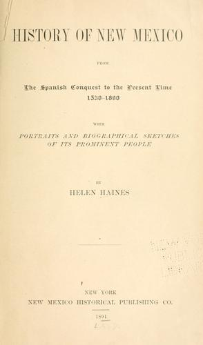 History of New Mexico by Helen Haines