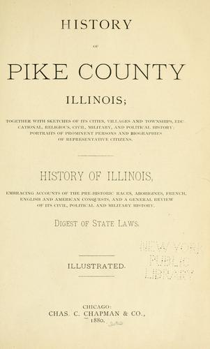 History of Pike county, Illinois by