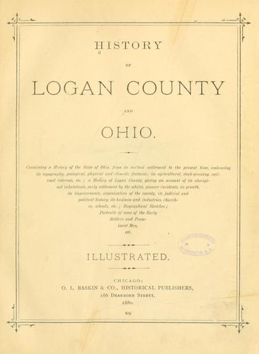 History of Logan County and Ohio by
