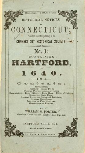 Historical notices of Connecticut by William Smith Porter