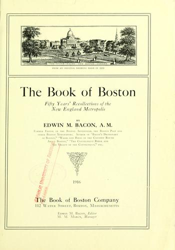 The book of Boston by Edwin M. Bacon