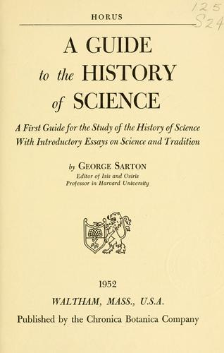 A guide to the history of science