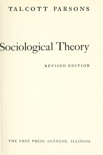 Essays in sociological theory.