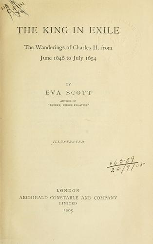 The king in exile by Eva Scott