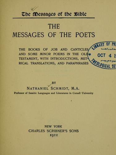 The messages of the poets