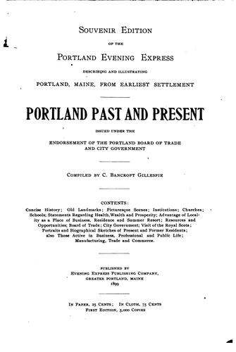 Portland past and present by Gillespie, Charles Bancroft