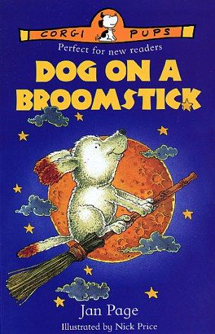 Dog on a Broomstick (Corgi Pups) by Jan Page