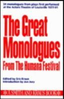 The great monologues from the Humana Festival by Eric Kraus