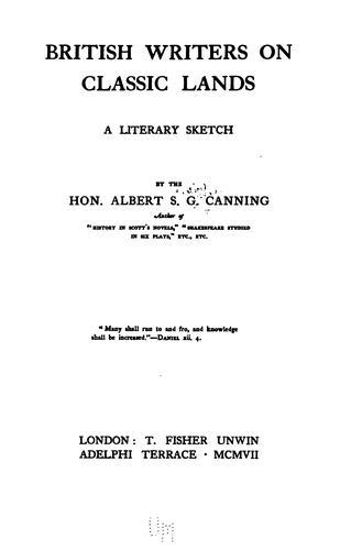 British writers on classic lands