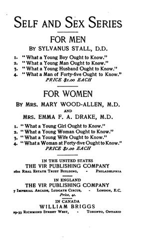 What a young wife ought to know by Emma F. Angell Drake
