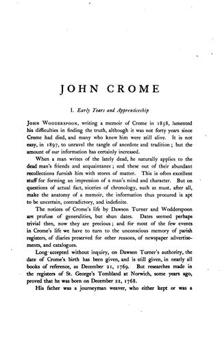 John Crome and John Sell Cotman by Laurence Binyon