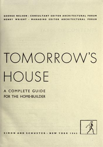 Tomorrow's house by Nelson, George