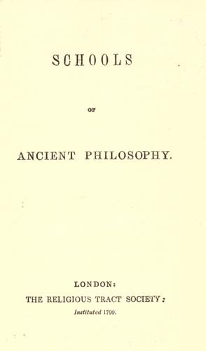 Schools of ancient philosophy by