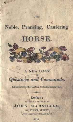 The Noble, prancing, cantering horse by