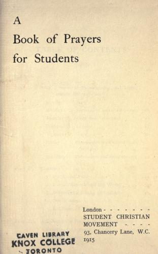 A book of prayers for students by