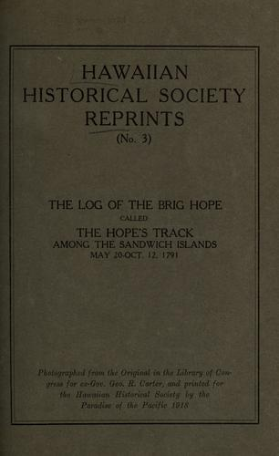 The log of the brig Hope