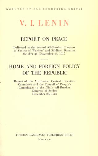 Report on peace