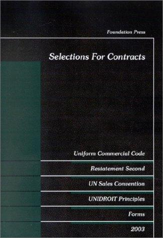 Selections for contracts by E. Allan Farnsworth, William Franklin Young